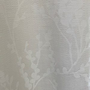 Threshold 84 Inch White Floral Curtains, set of 4